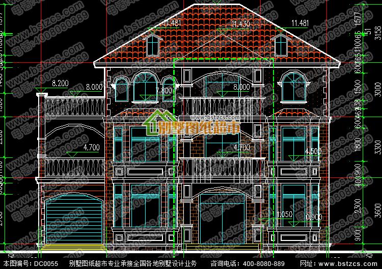 三层欧式别墅设计_别墅设计图纸