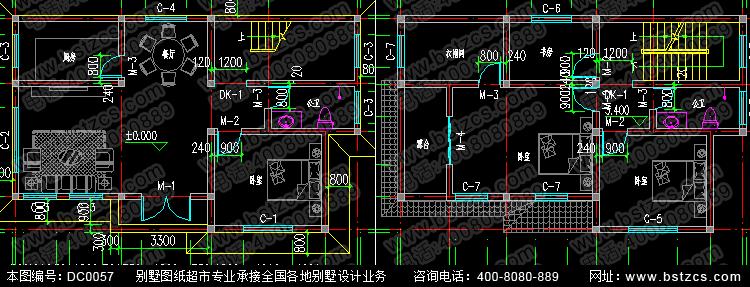 12.84米×8米农村自建房设计__新农村别墅设计图纸