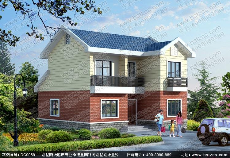 二层新农村别墅设计图纸_别墅设计图纸_农村自建房设计