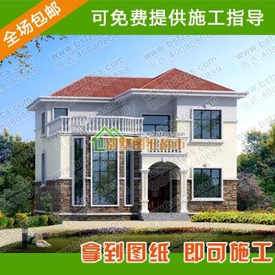 农村三层房屋设计平面图  【现代简约风格小别墅设计图纸平面图及效果