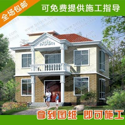 11米×10.08米二层别墅设计图纸_新农村别墅_农村自建房