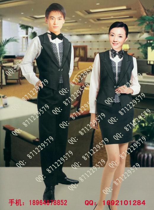 西餐厅工作服定做,欧式服务员服装图片,酒吧服务生工装