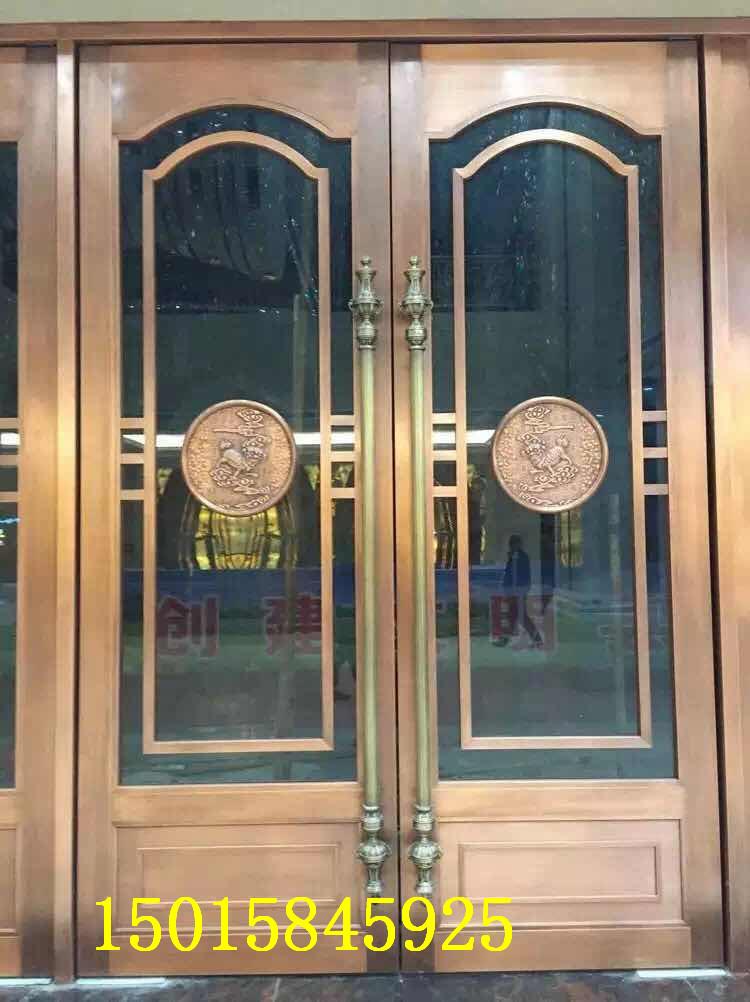 深圳欧式彩色不锈钢玻璃门定做厂家包安装