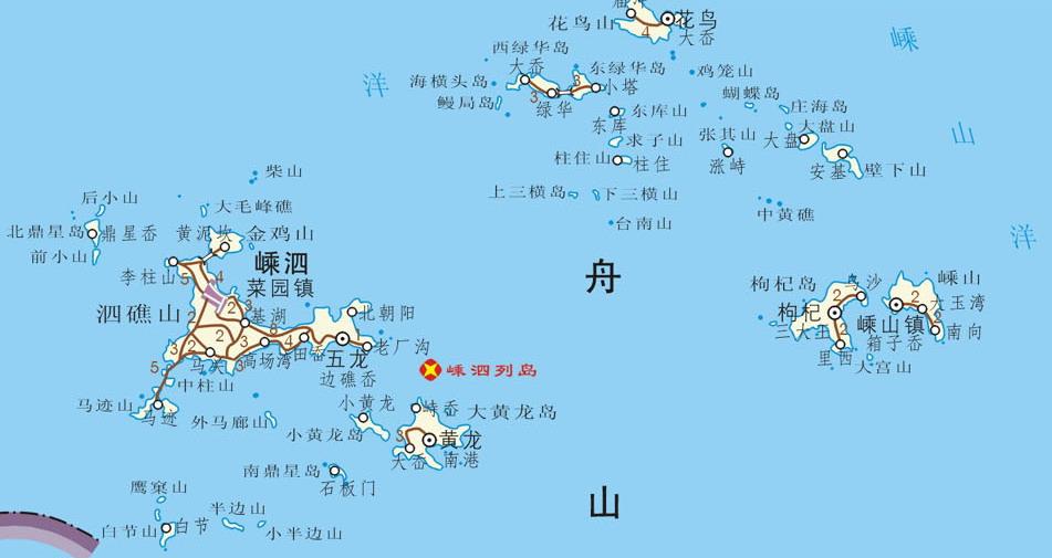 舟山群岛古代地图