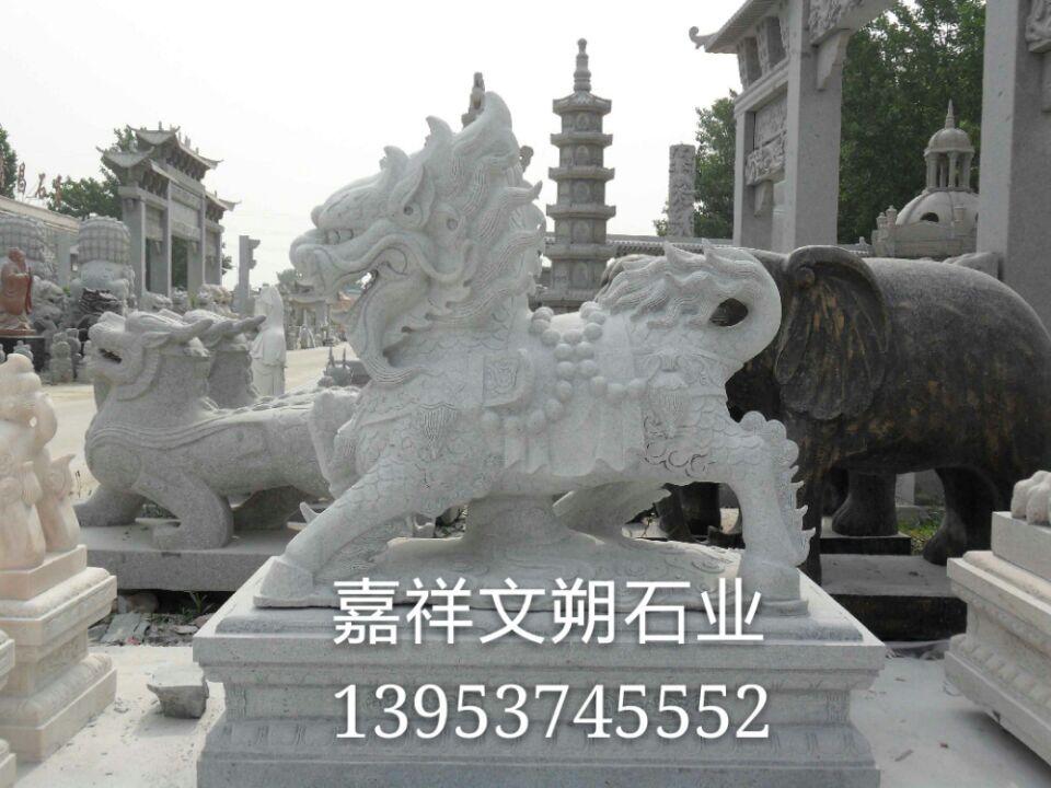 石头麒麟雕刻厂家 石刻麒麟送子 石雕麒麟图片