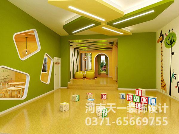 手绘墙制作步骤&郑州幼儿园装修设计