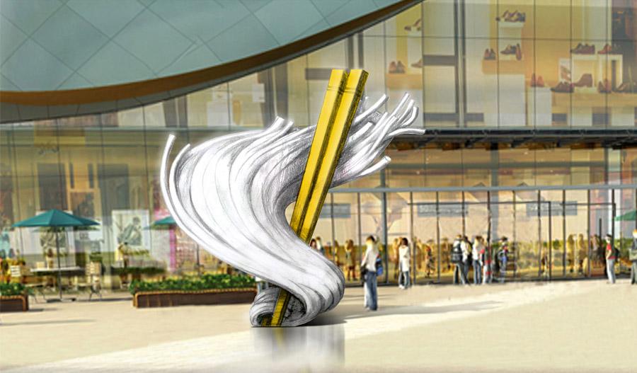桂林万达商场雕塑-景观雕塑设计制作