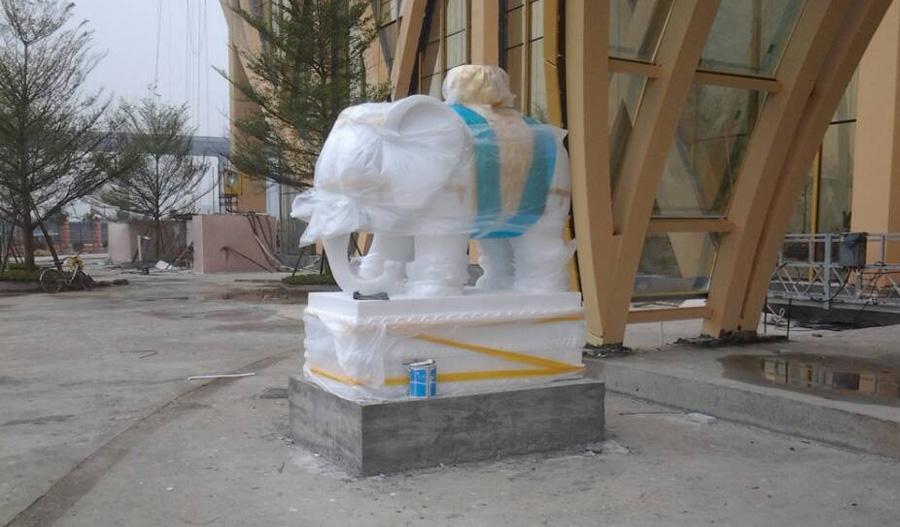 广州圆大象雕塑-动物雕塑-门面雕塑