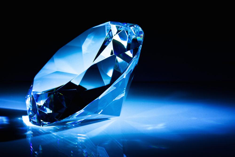钻石侧面矢量图