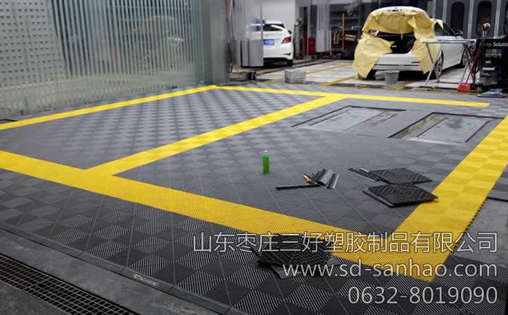 汽车店地面面装修效果图--枣庄三好_洗车店地面装修