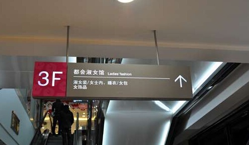 百货商贸人员疏导牌欧式灯箱广告牌超市区域分布指示图片