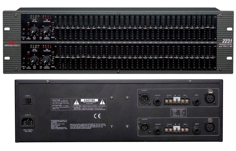 dbx sm-2600 移频器带6路输入反馈抑制器 会议系统