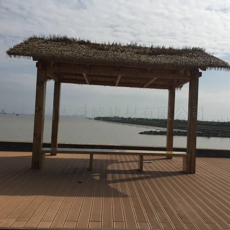 木塑空心圆孔地板140h23b室外木地板防腐地板 木塑防水地