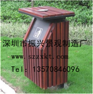 钢木垃圾桶生产厂家 -钢制垃圾桶-公共街道环保垃圾