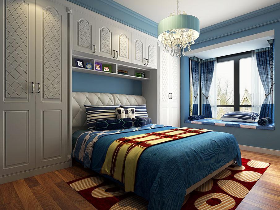 地中海客厅装修效果图-诗尼曼客厅家具定制-家居100网