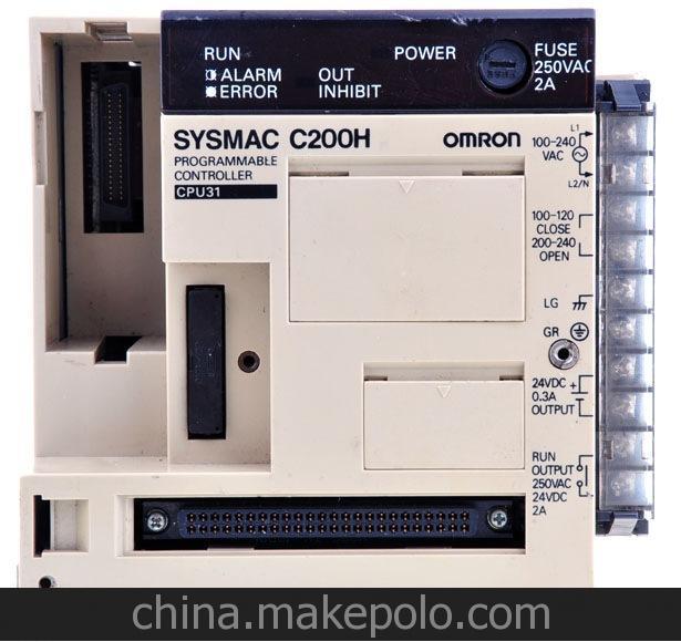 欧姆龙PLC--C200HE/C200HG/C200HX系列 1. C200HE-CPU11-E CPU单元 内存 3.2K最大I/O点数: 640点 2. C200HE-CPU32-E CPU单元 内存 7.2K最大I/O点数: 880点 3. C200HE-CPU42-E CPU单元 内存 7.2K最大I/O点数: 880点 带RS232C,带时钟 4. C200HG-CPU33-E CPU单元 内存15.2K最大I/O点数: 880点 带时钟 5.