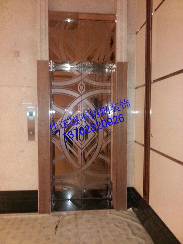 深度蚀刻 不锈钢电梯门豪华花纹面板