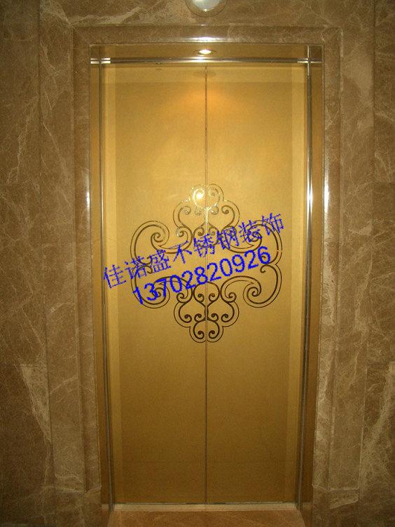 唯美花纹 蚀刻不锈钢花纹电梯门
