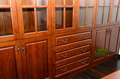 木之屋厂家供应实木书柜家具定制