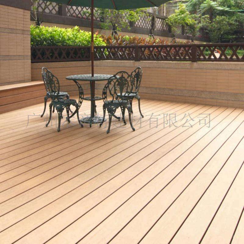 露天阳台木塑地板 140s30b实心户外地板 木地板厂家直销 花园地板