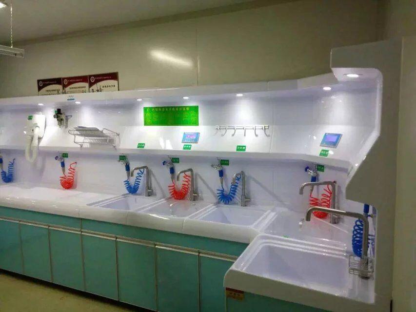 洗消一体化工作中心,软镜储存柜,304不锈钢洗手池,有机清洗消毒水槽