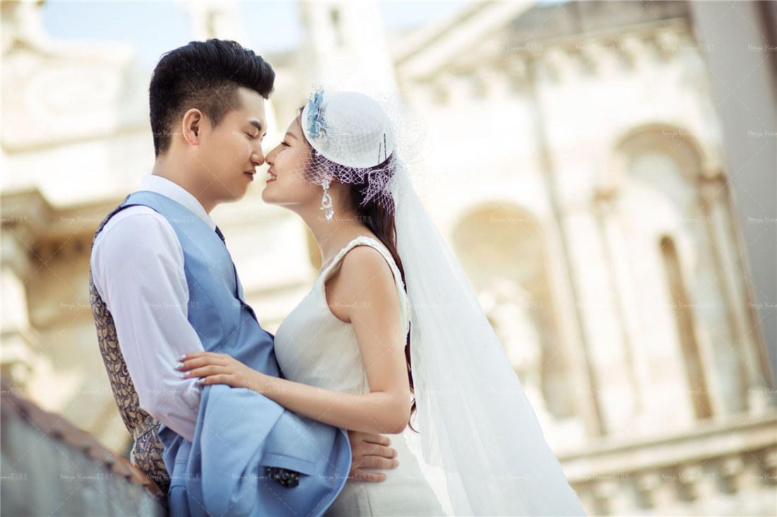深圳婚纱摄影推荐90后创意婚纱照个性pose图片
