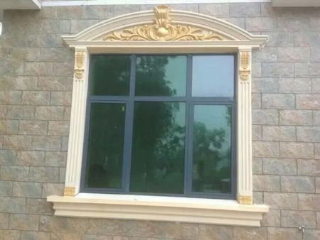 外墙米黄与欧式窗套配色效果图
