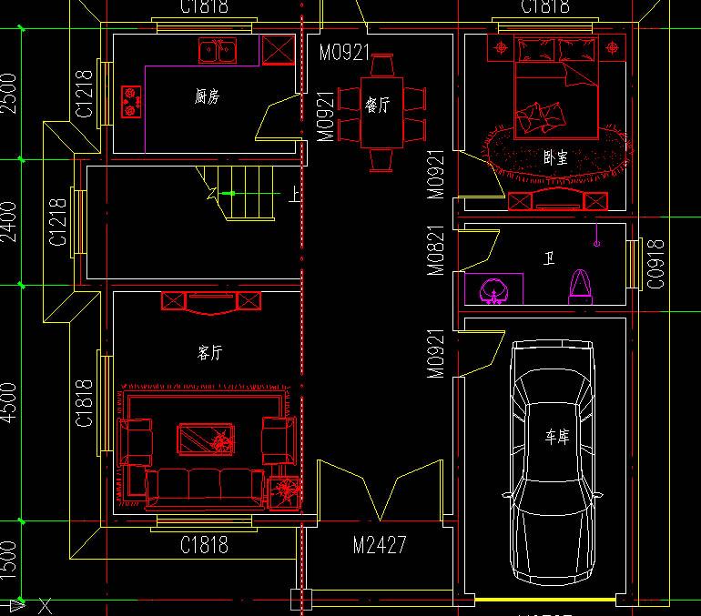 农村三层别墅设计图,乡村别墅图纸设计