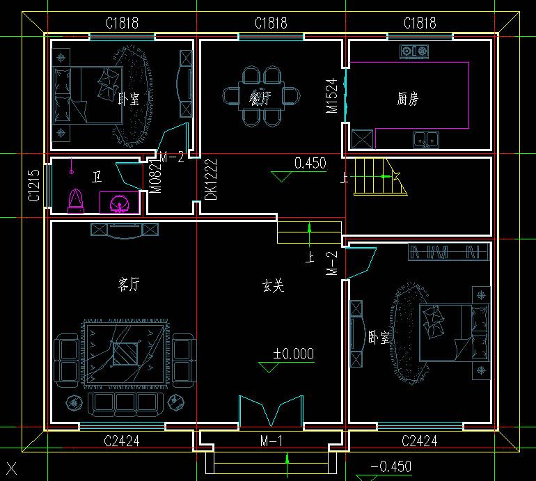 乡村独栋别墅设计图 农村两层房屋设计图