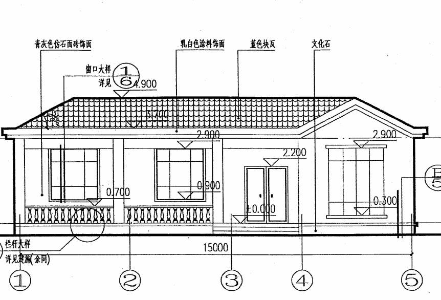 农村一层自建房设计图 房屋建筑设计图纸