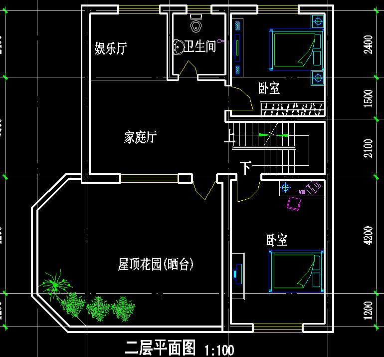 建房图纸设计 农村两层自建房图纸 房屋户型图