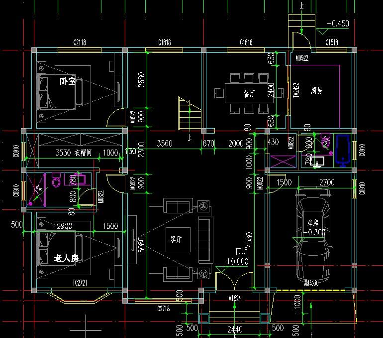 独栋两层别墅设计图 农村房屋图纸设计