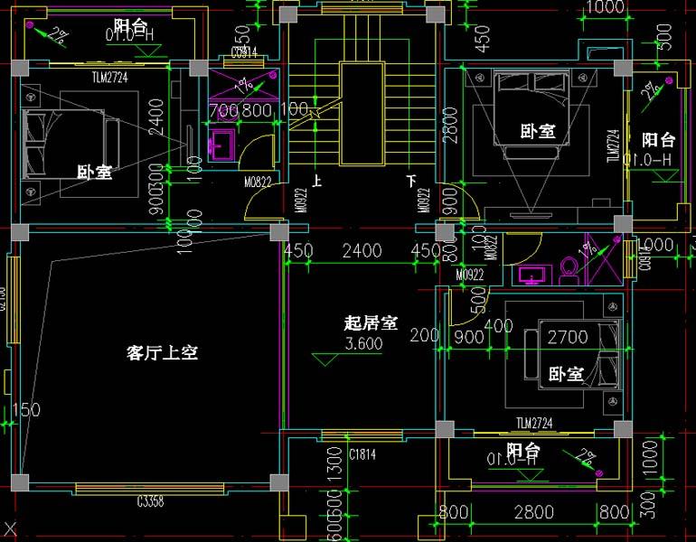 农村15x11.6米三层豪华欧式别墅设计图