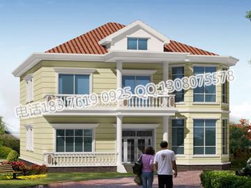 新农村两间房屋设计图,新农村2层楼房设计图,新农村住宅大门 第4