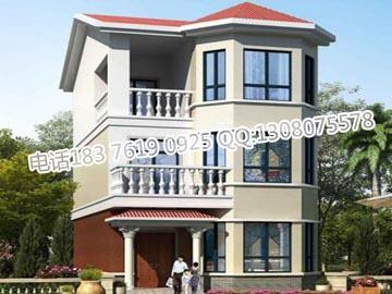 农村三层房屋设计图 农村自建房图纸设计-一层三间平房设计图