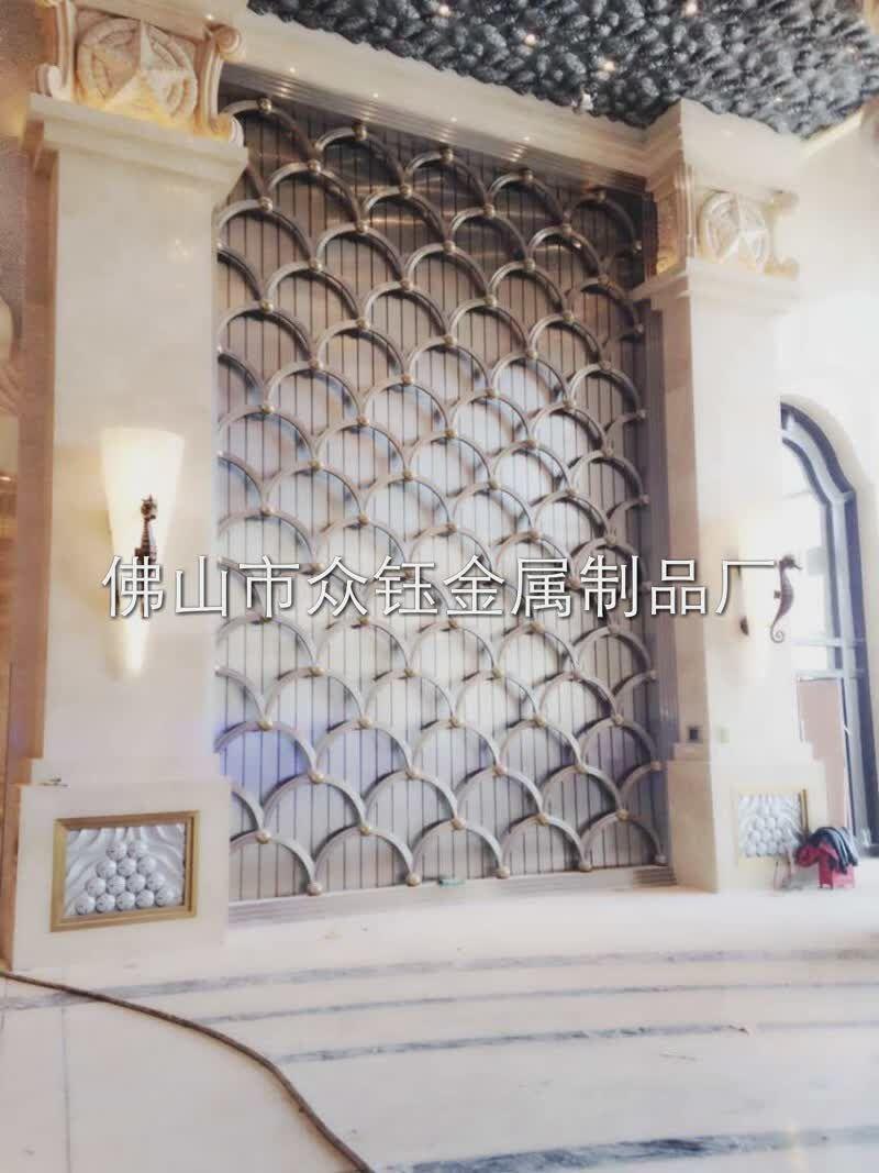 安徽酒店欧式不锈钢花格屏风制品厂家