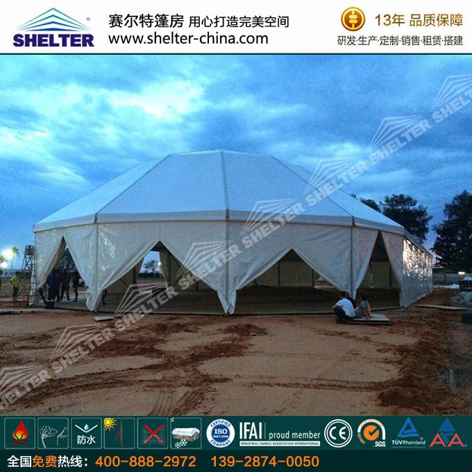 户外婚礼篷房-多边形帐篷-多边形欧式篷房租售