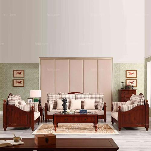 北欧式布木沙发 钦州板式家具