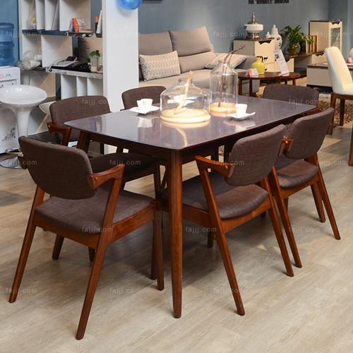 个性方形餐桌椅 柳州板式家具 贺州欧式家具