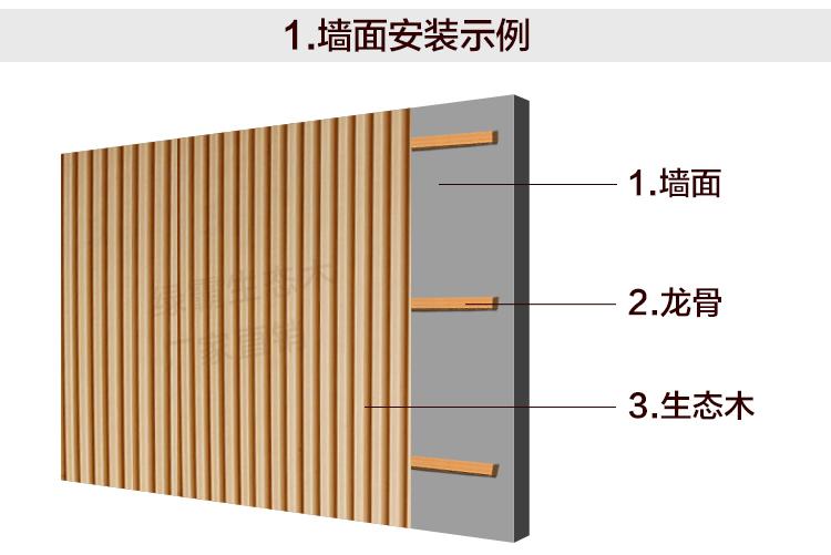 生态木墙板的安装方法图解汇总