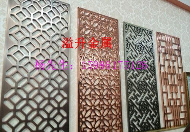 仿古欧式屏风 重庆客厅镂空铝板雕花制作