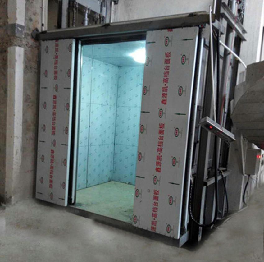 吉林升降机 货梯传菜机 升降平台 导轨式货梯