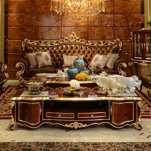 欧式华丽电视柜 贵港板式家具 凭祥欧式家具
