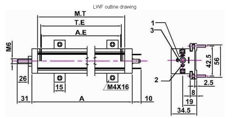 电子尺lwf-450位移传感器