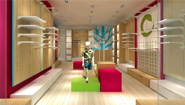 合肥10平服装店简约装修 天花板设计大有文章