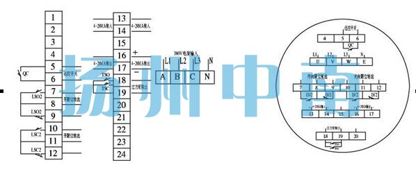 采用阀门电动装置用三相异步电机,启动转矩大,转动惯量小;    6.