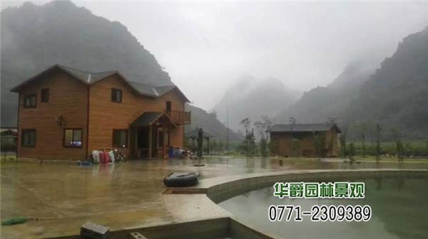 广西农村生态设计 度假山庄园林景观施工