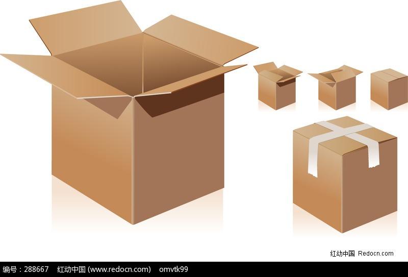 纸箱标签矢量图