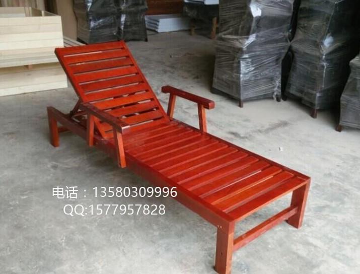 实木沙滩椅 庭院折叠睡椅厂家