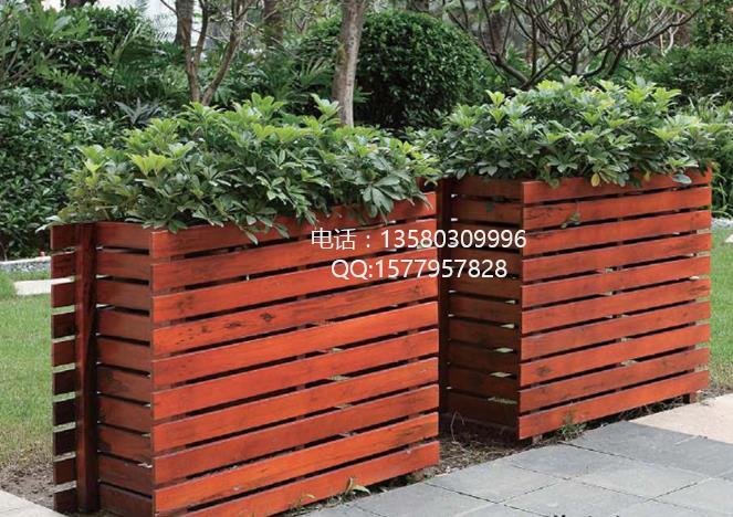 网格木制花架,户外木质花槽花池